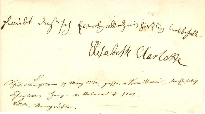 Briefe Liselotte Von Der Pfalz : Elisabeth charlotte
